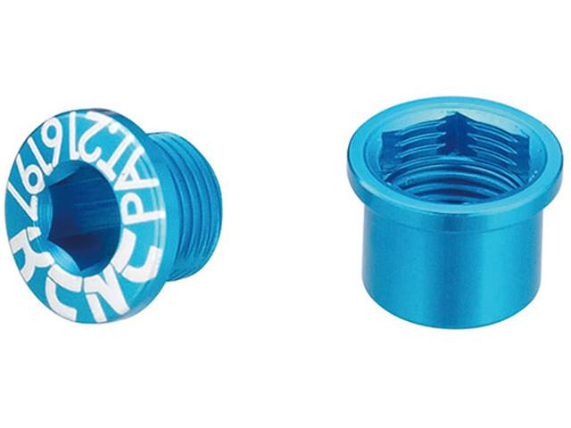 KCNC Road SPB003 Set di viti per corona dentata Shimano M8 corto, blue